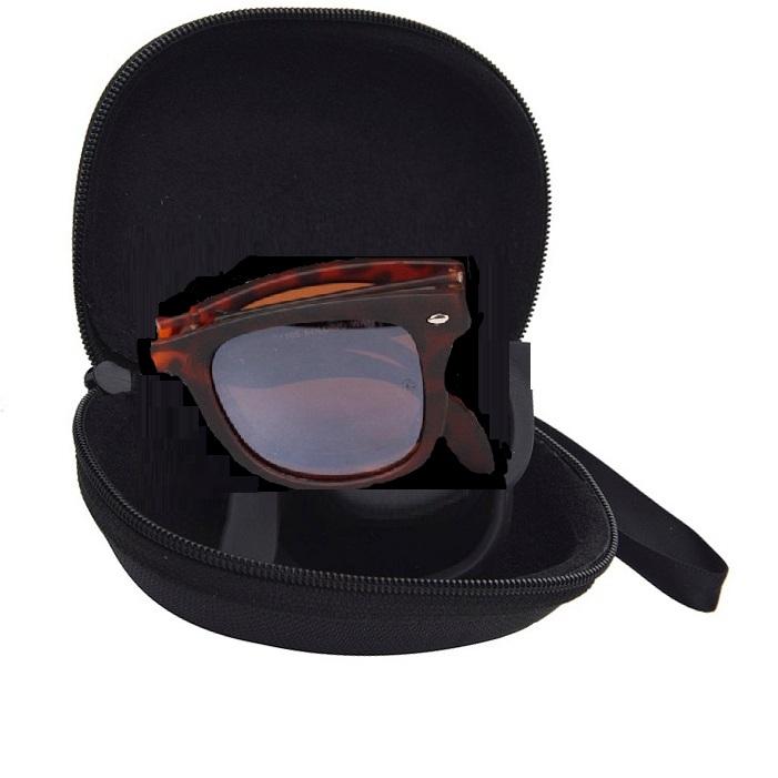 Кафяви слънчеви очила с калъф