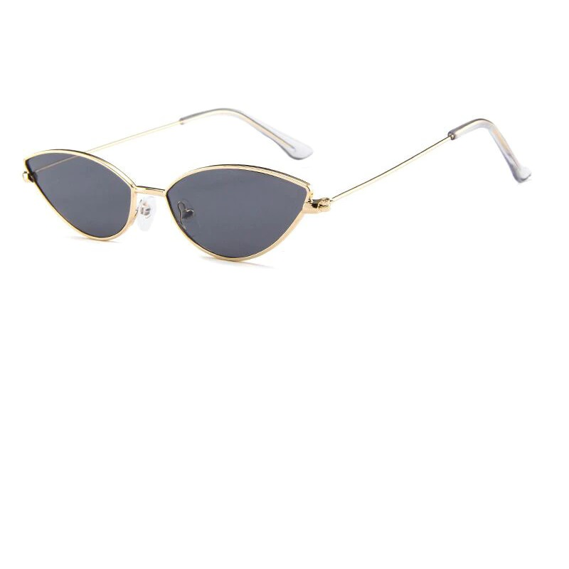 Черни котешки очила златни рамки
