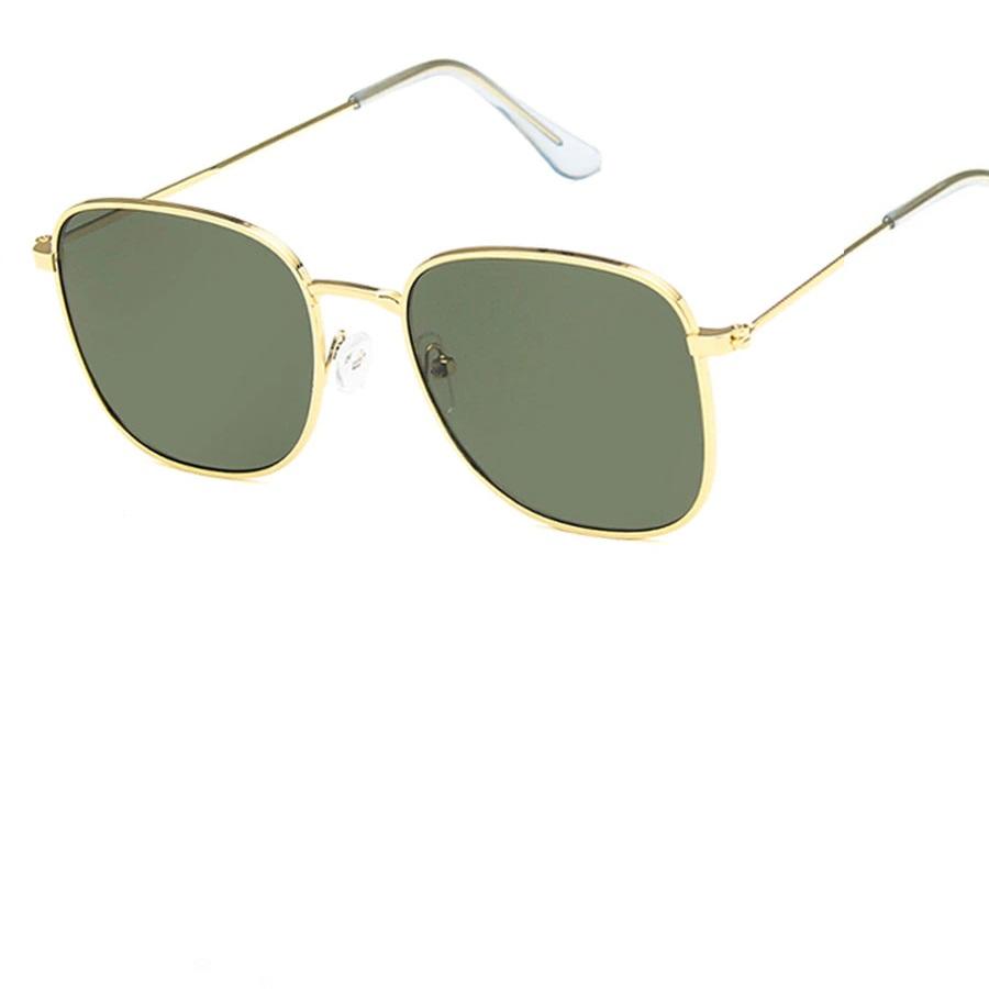 Очила с жълта рамка зелени стъкла за успокояване на очите