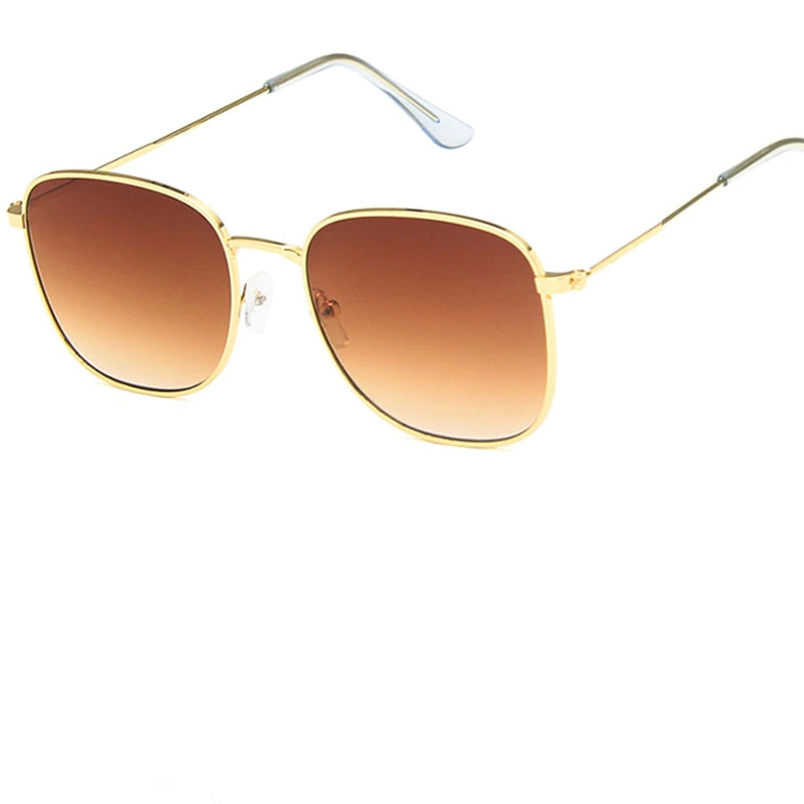 Очила с жълти рамки, кафяви изсветляващи стъкла