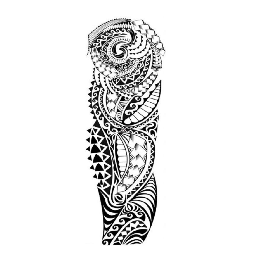 Временна татуировка с маорски мотиви