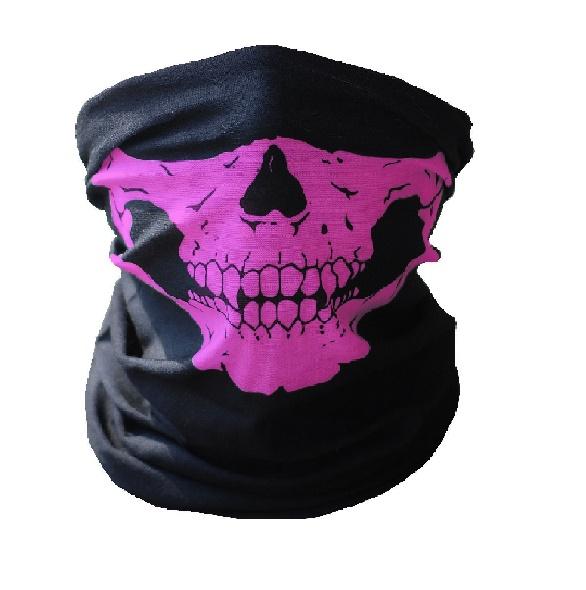 Чорап за глава с лилави челюсти