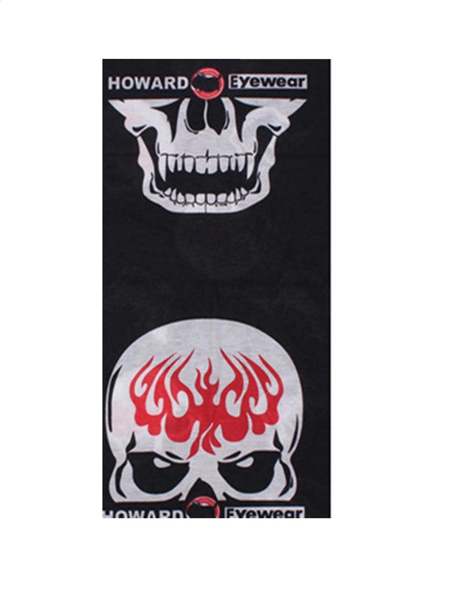 Микрофибърна кърпа - шал с горящ череп