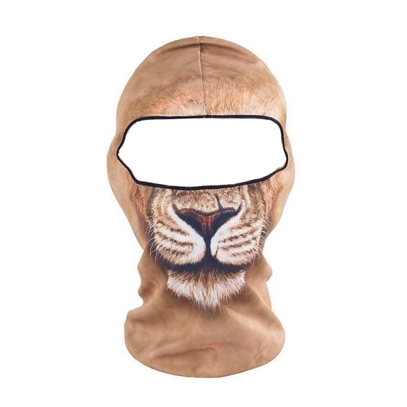 Мотористка маска с 3D принт лъв