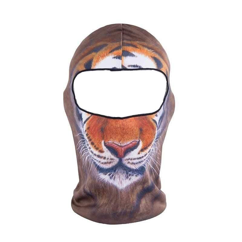 Мотористка маска с принт индокитайски тигър
