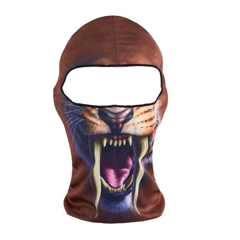 Мотористка маска със саблезъб тигър