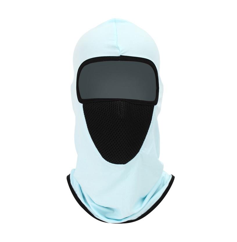 Нинджа маска в светло синьо