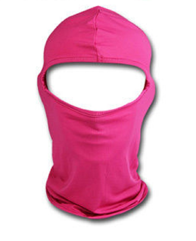 Розова дамска мото маска