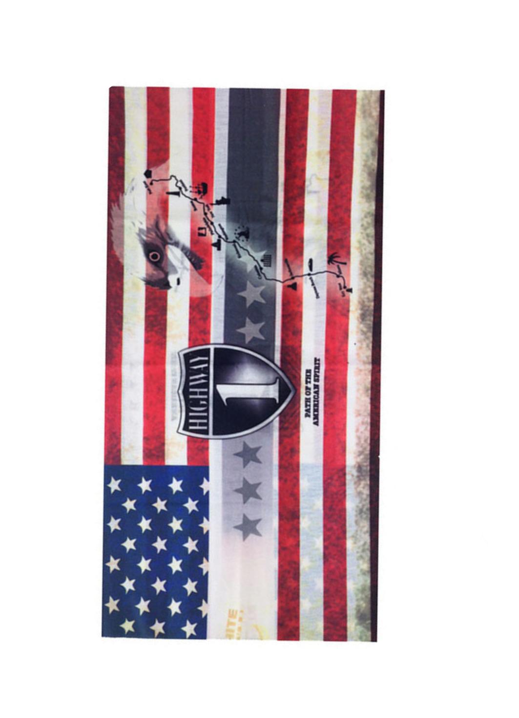 Шал за мотор с американско знаме
