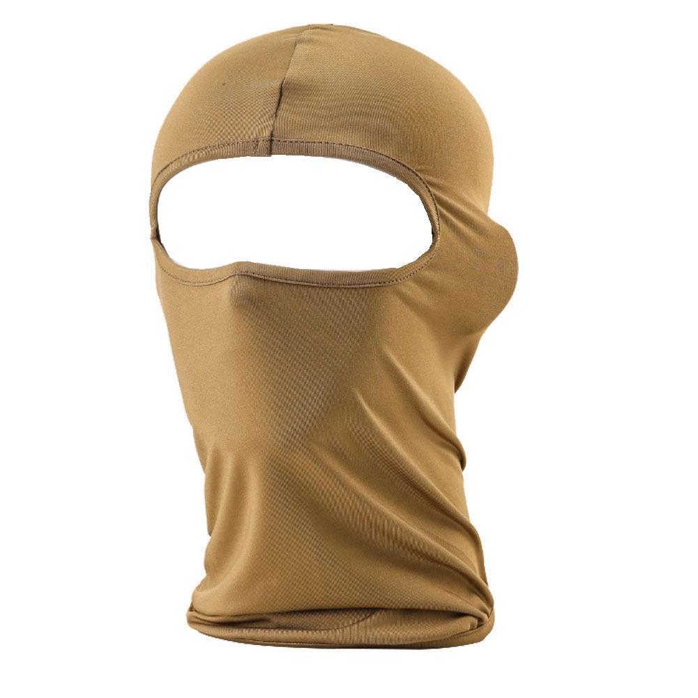 Светло кафява мото маска