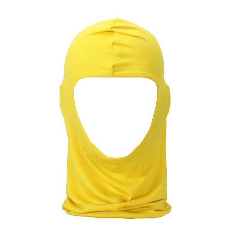 Жълта мото маска