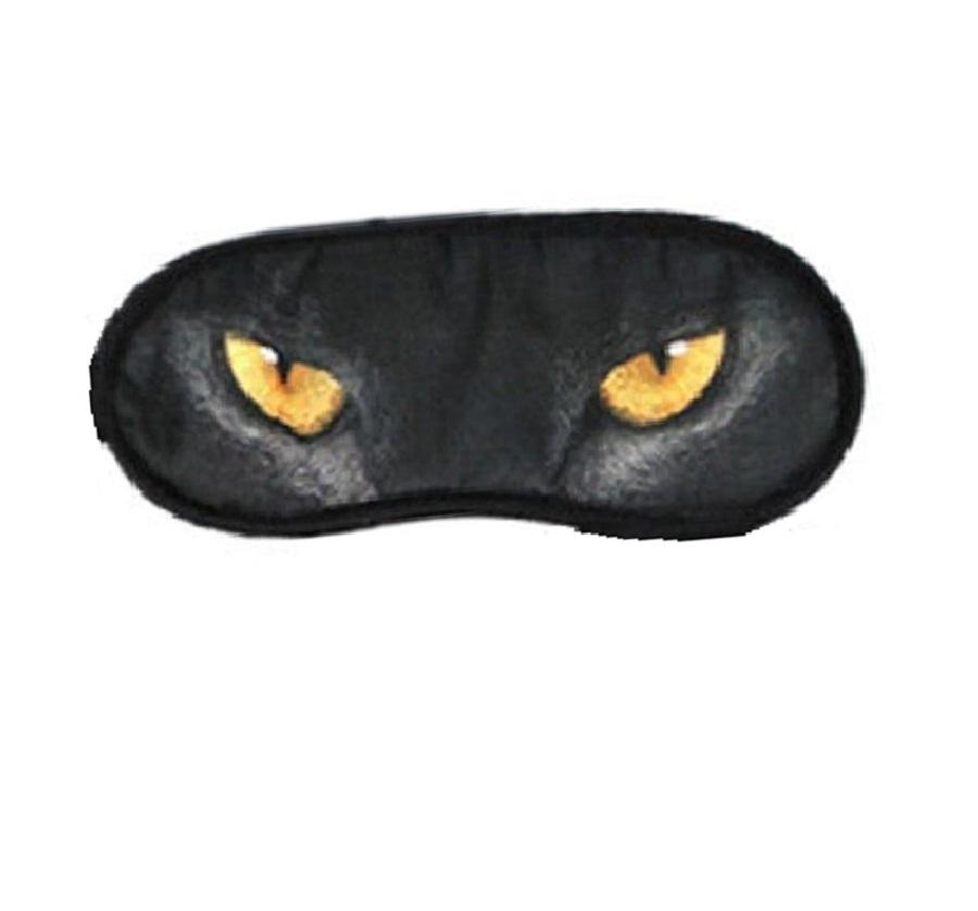 Маска за спане с очи на пантера
