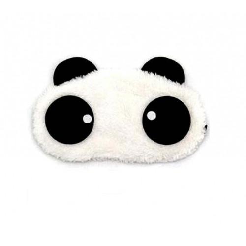 Памучна маска за сън с панда очи
