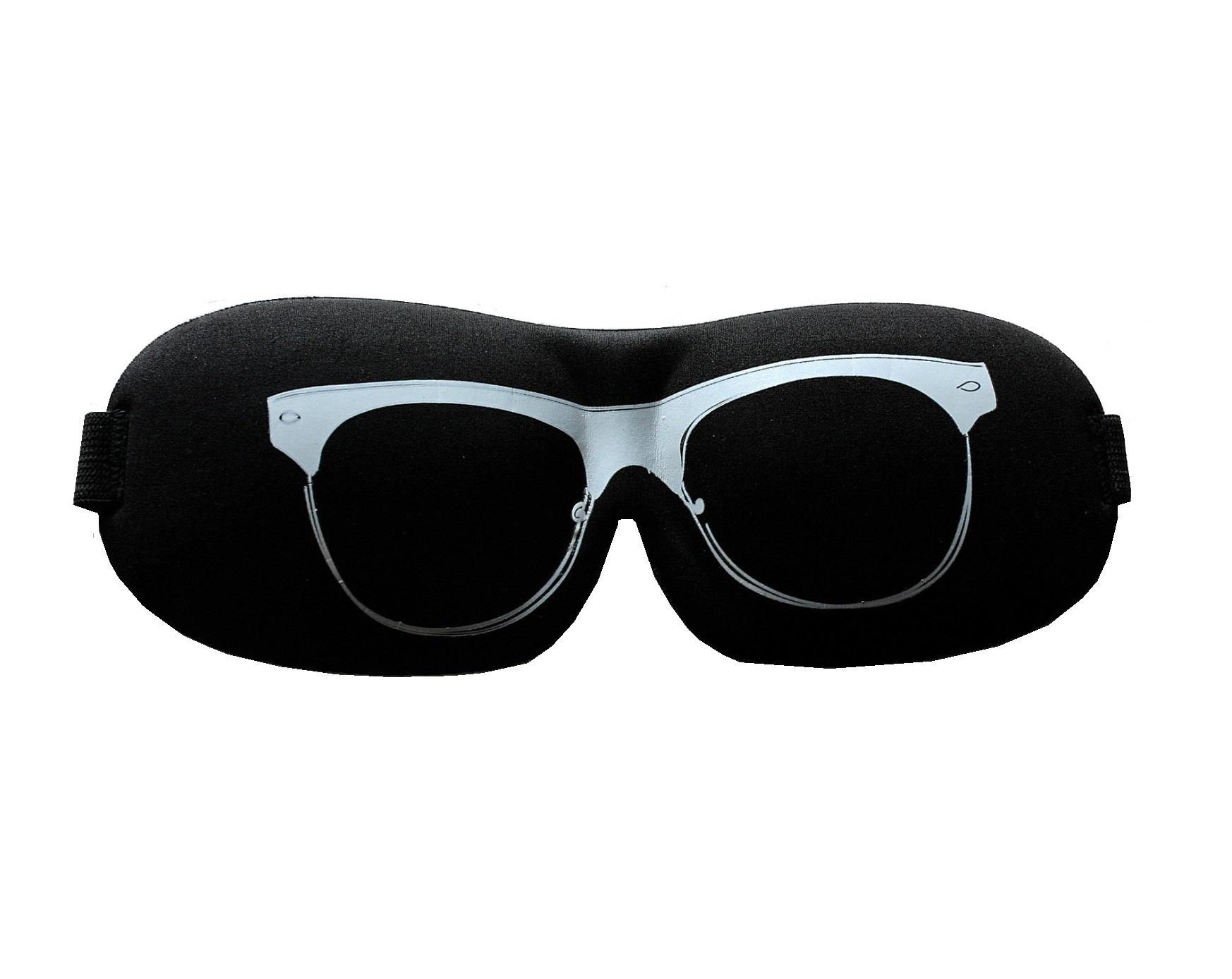 Плътна маска за спане с очила
