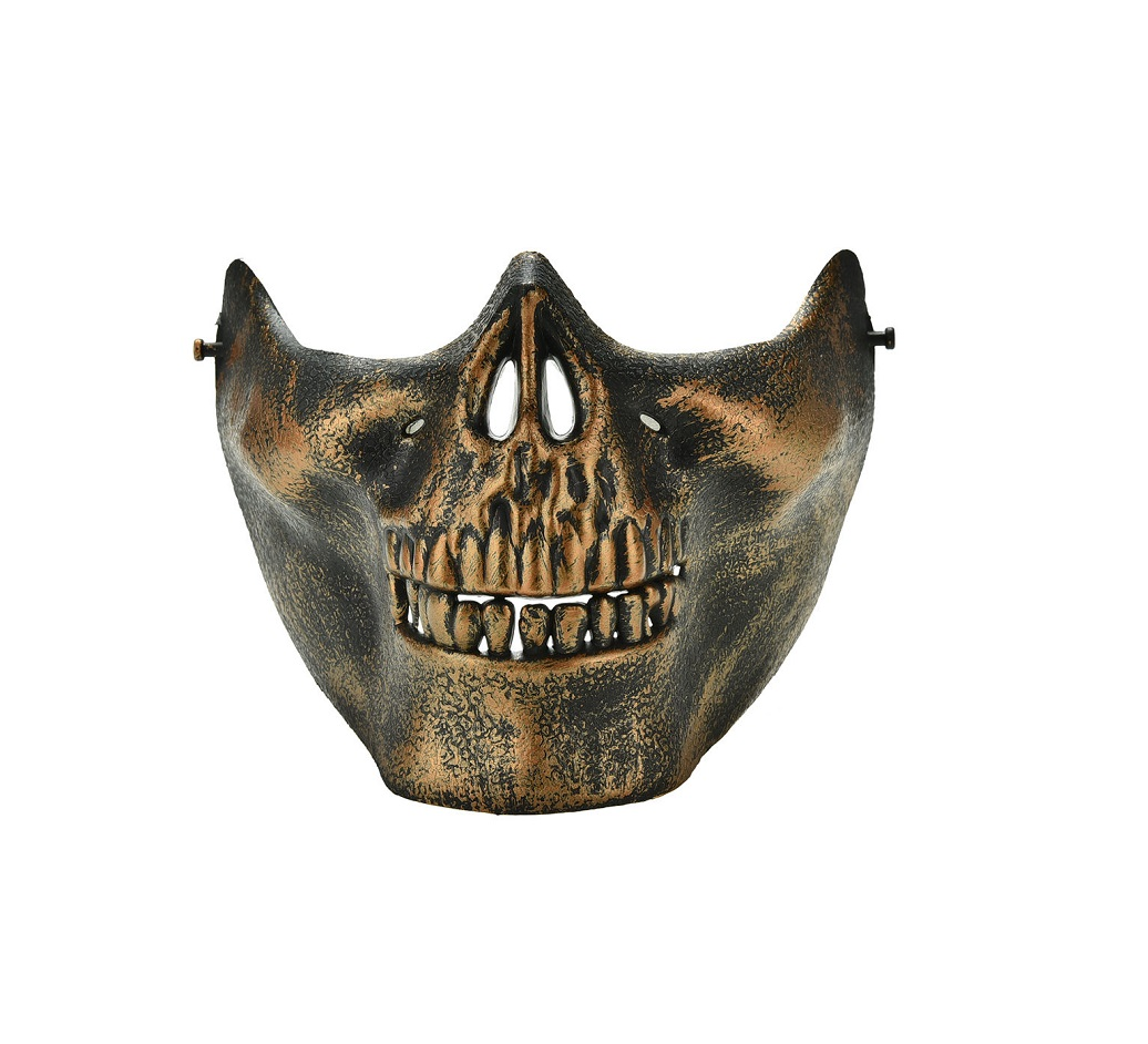 Лицево-черепна маска бронзова патина
