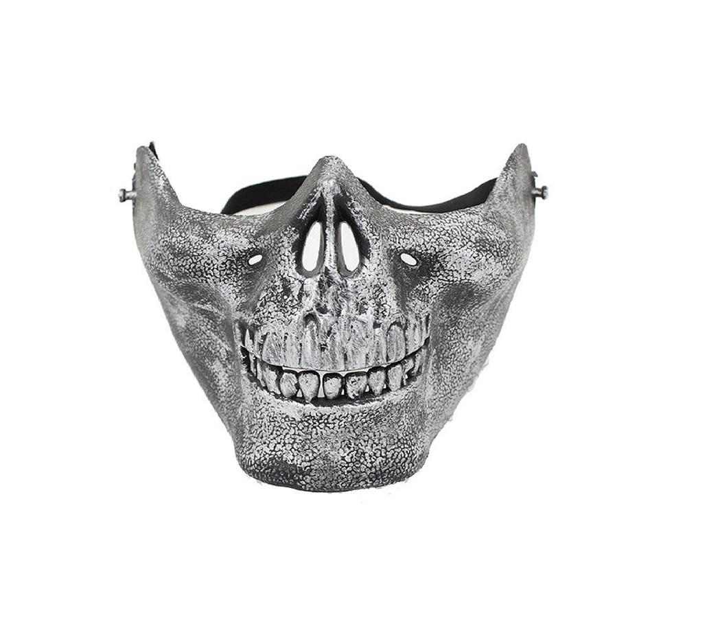 Пейнтбол маска сребърна патина