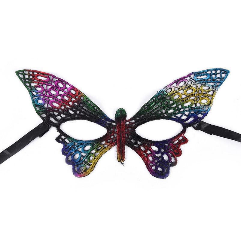 Цветна пеперуда маска за очи