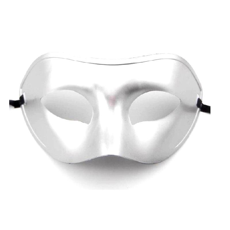 Твърда маска за бал в сребърно