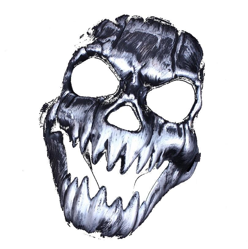 Твърда маска за Хелоуин сребро