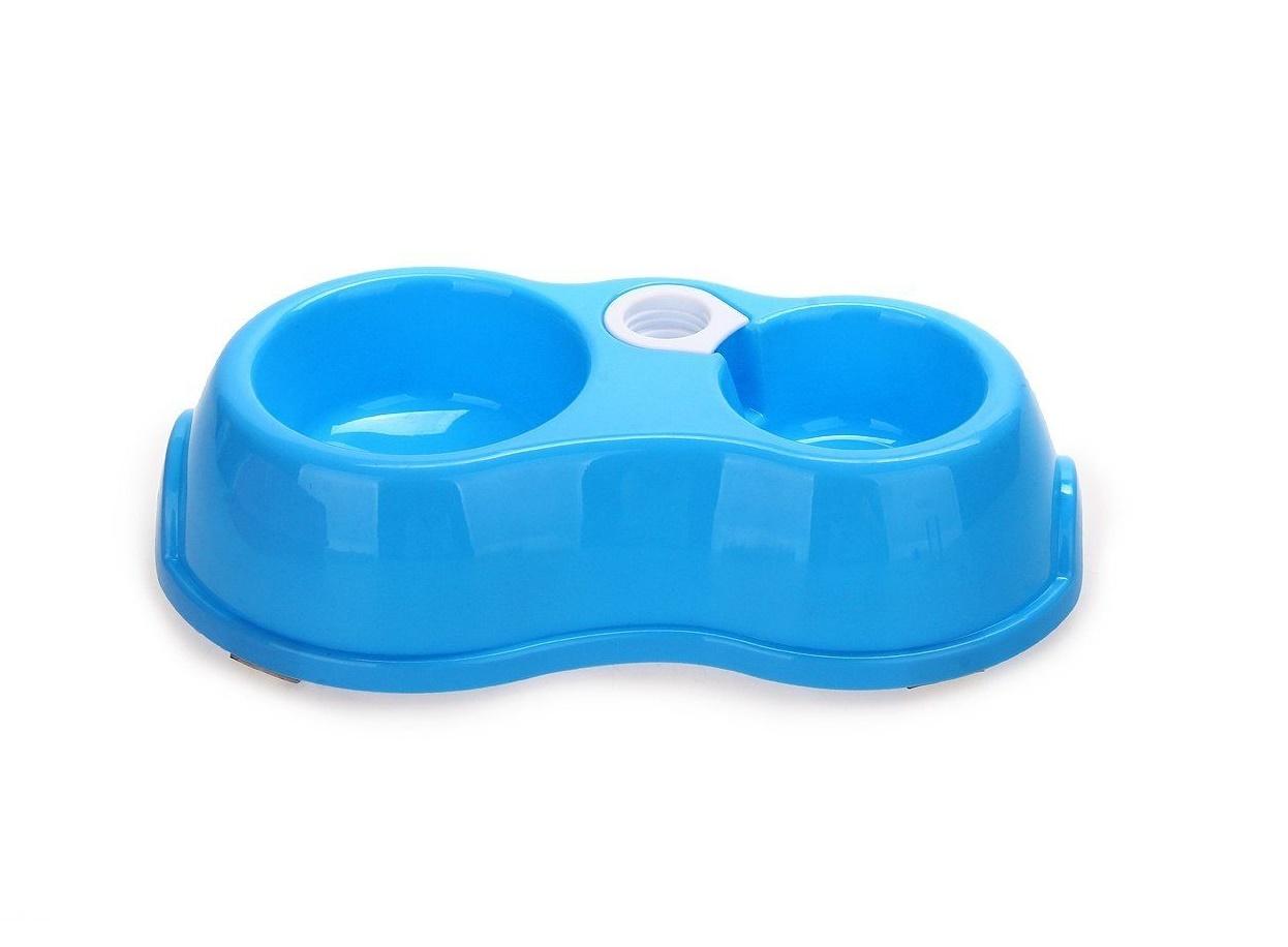 Двойна купа за животни с дозатор за вода