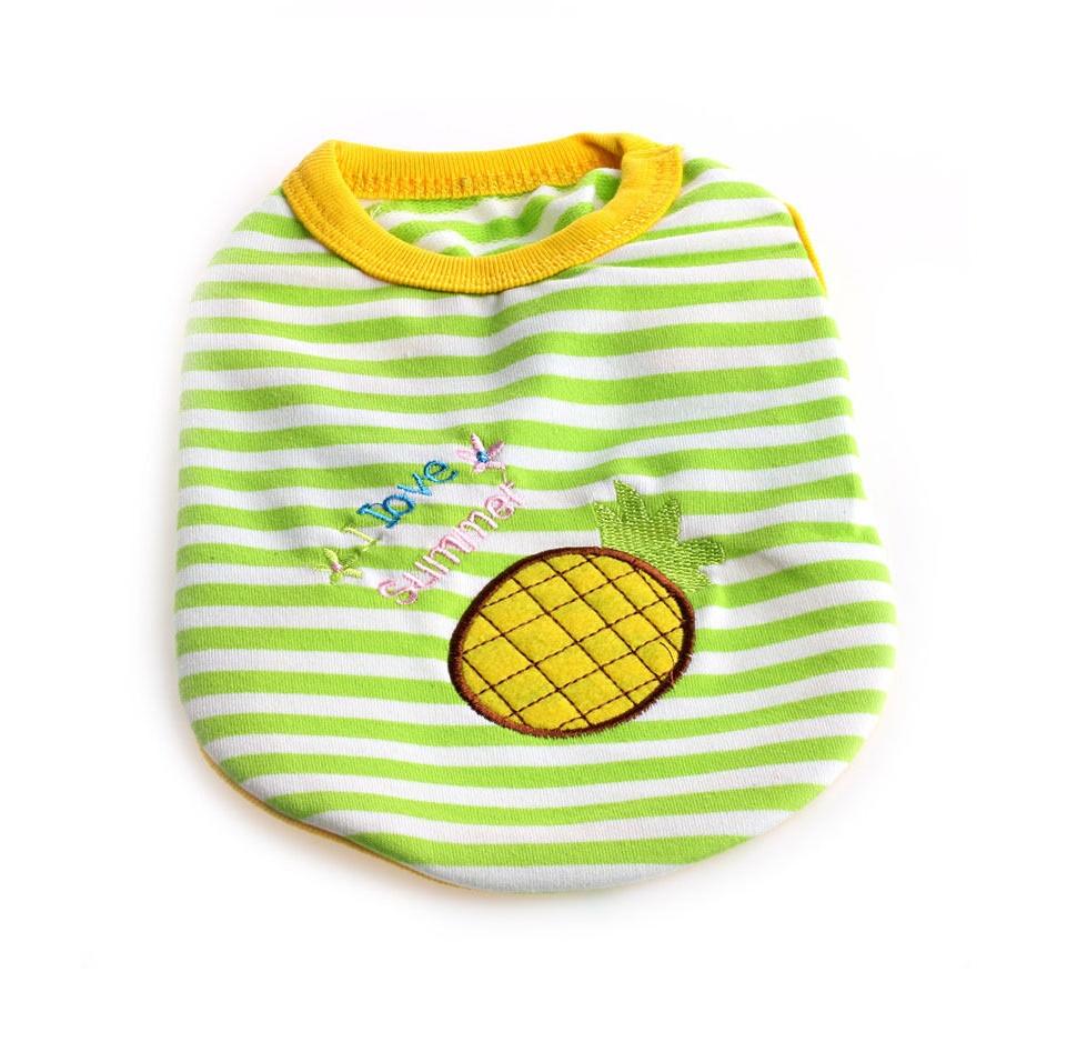 Пролетно - лятна блуза за куче с ананас