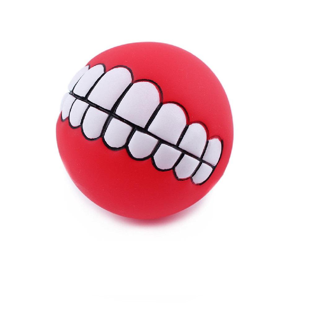 Закачлива кучешка топка със зъби