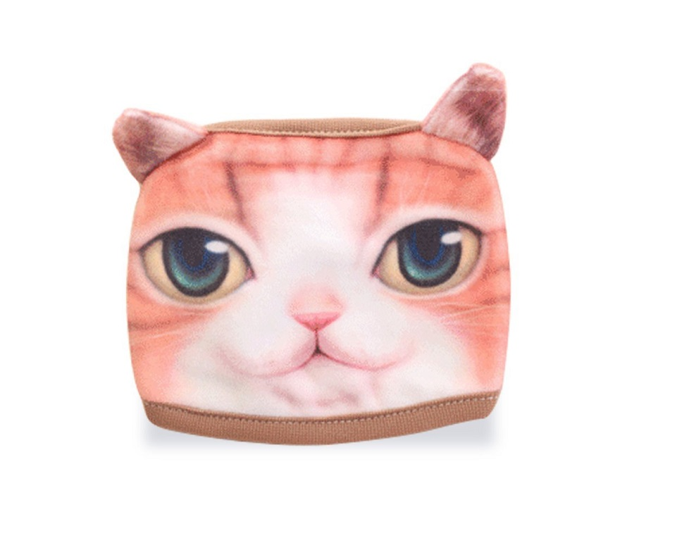 Маска за уста с рижа котка