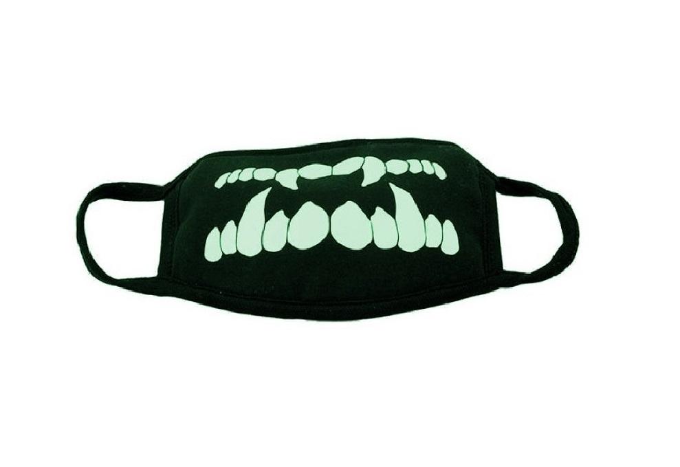 Светеща в тъмното маска със зъби