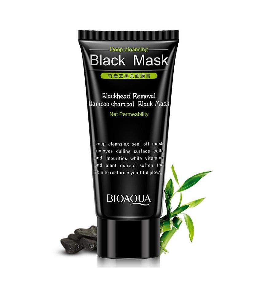 Дълбоко почистваща черна маска за лице