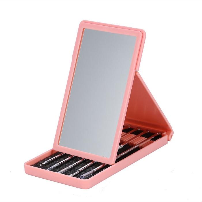 Комплект инструменти за акне в кутия с огледало