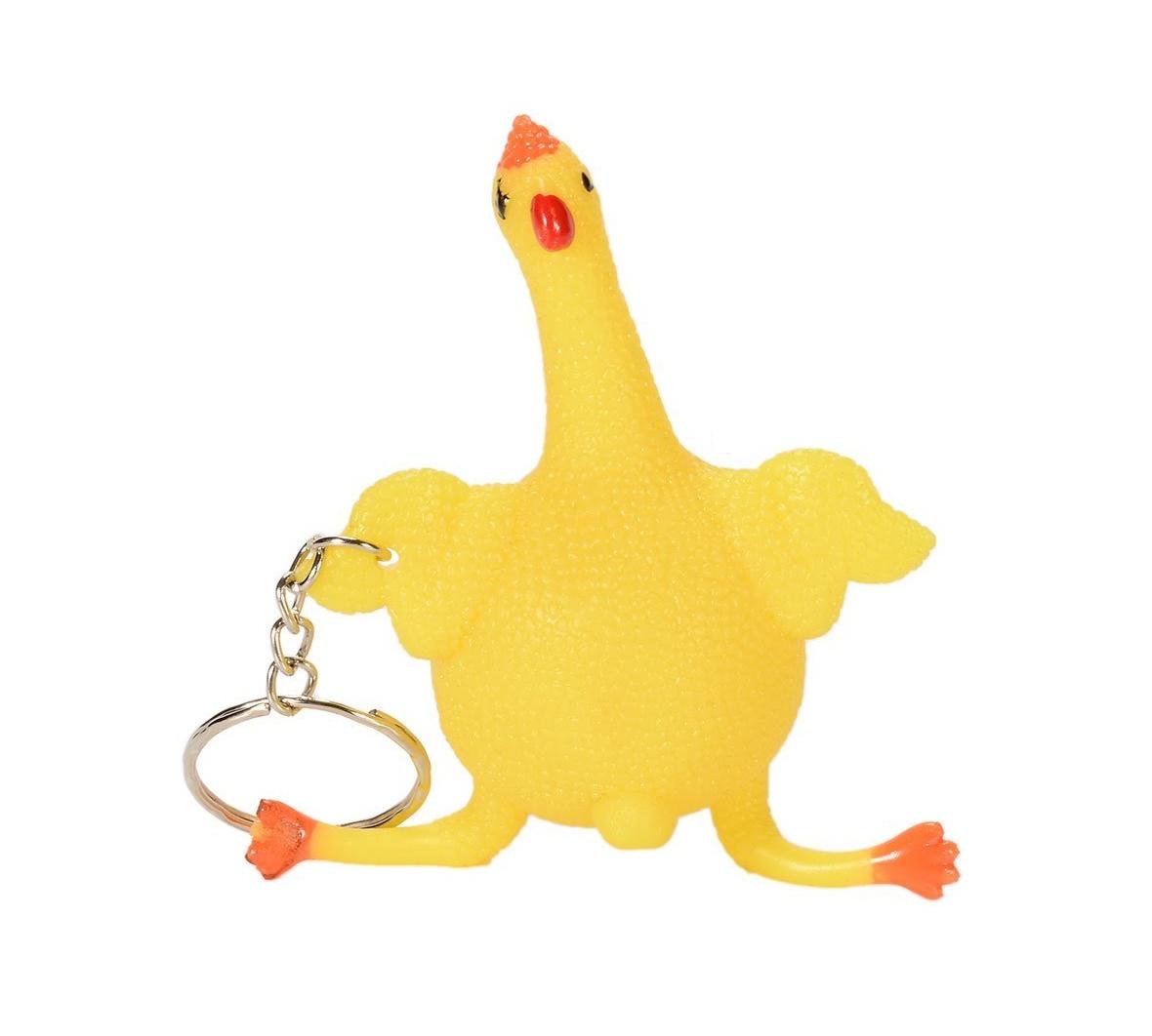 Забавен ключодържател пиле с яйце