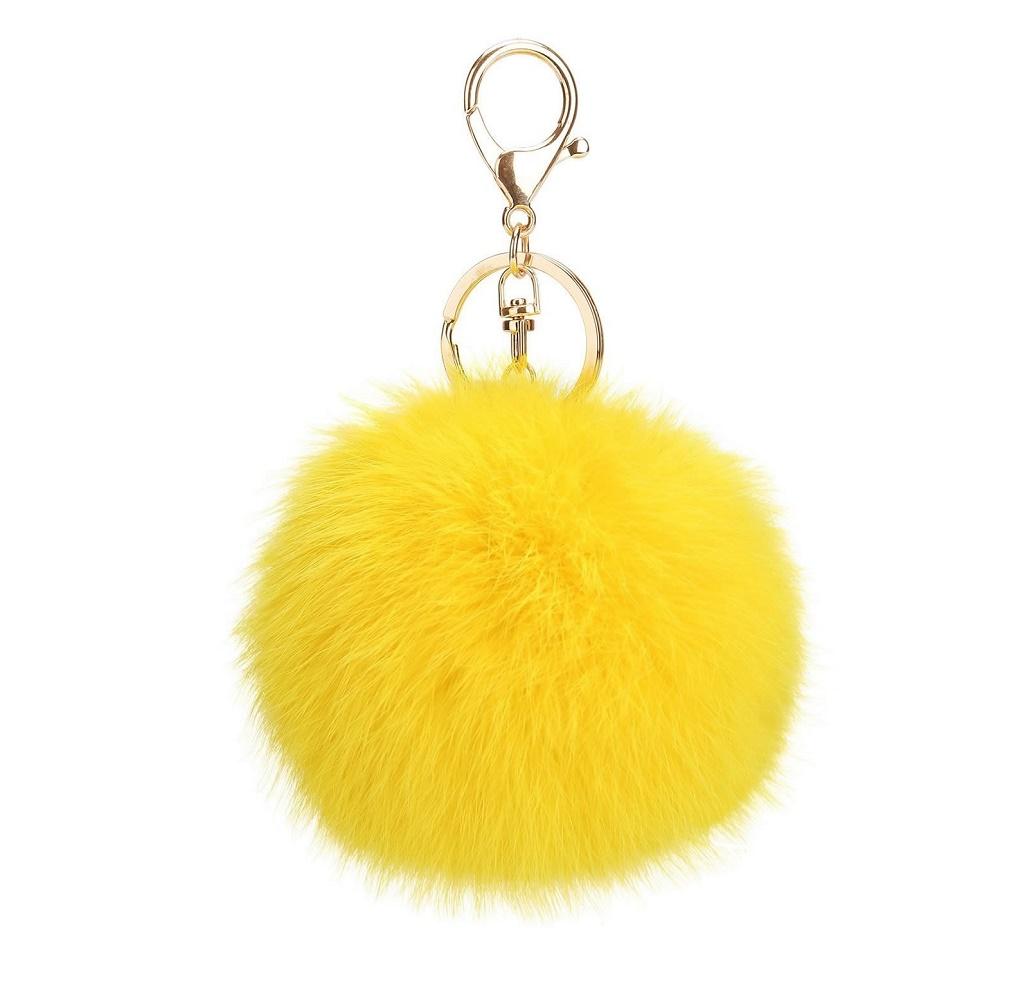 Ключодържател помпон 8 - жълт