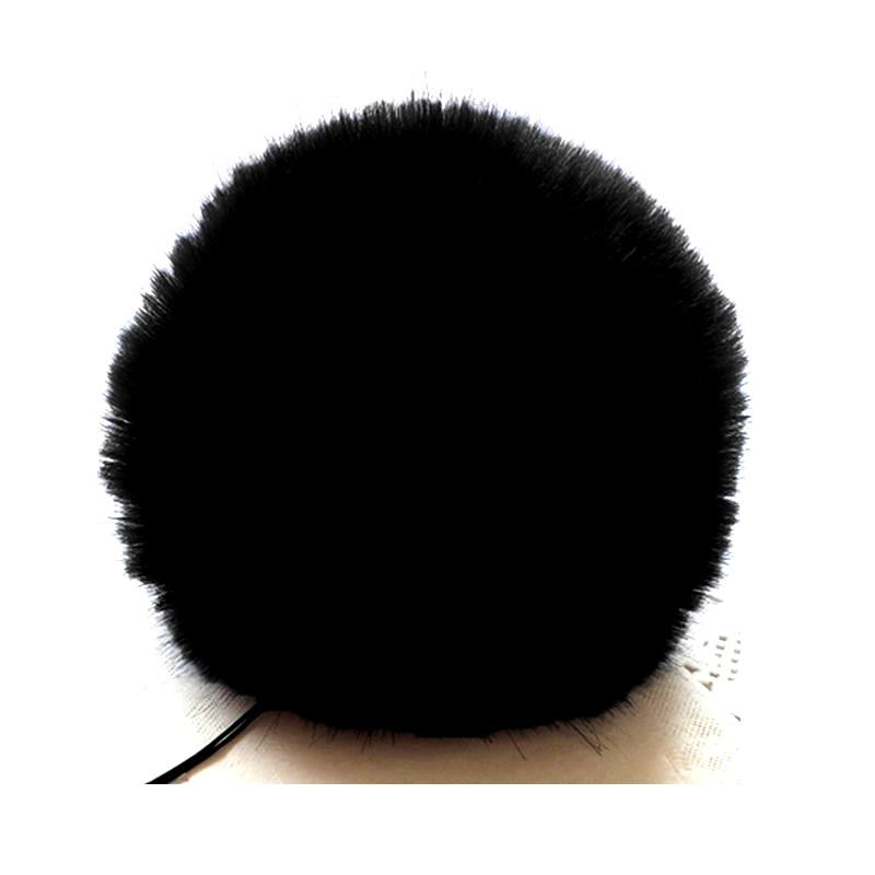 Заешка опашка черен помпон