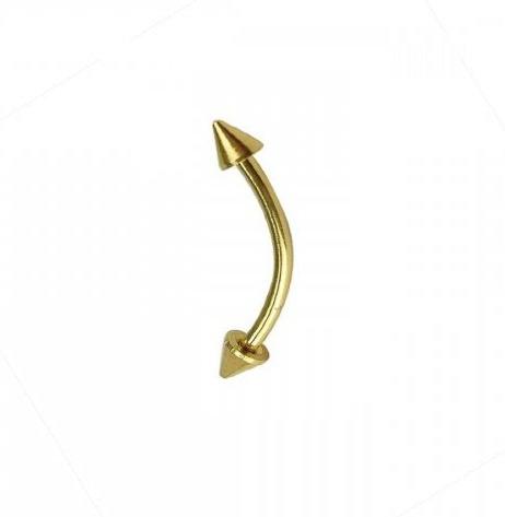 Златни шипове обеца за вежда