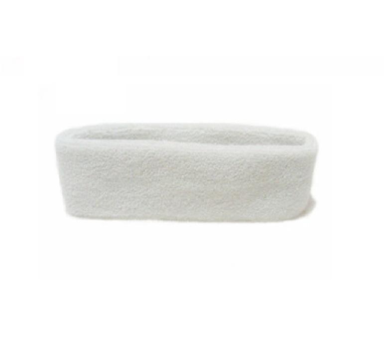 Бяла спортна лента за чело