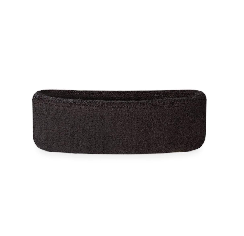 Черна хавлиена лента за спорт