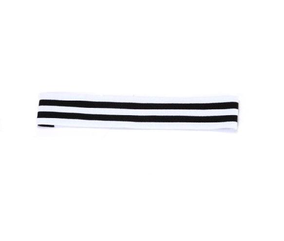 Еластична лента за глава бяло и черно