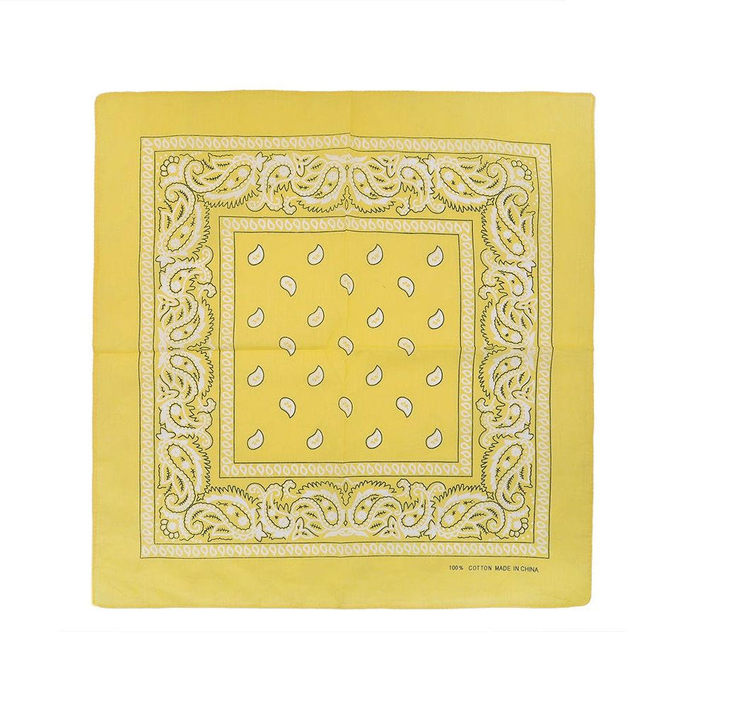 Памучна кърпа в жълт цвят