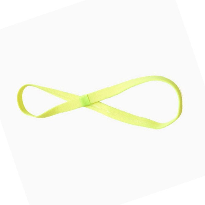Спортно елегантна лента електриково жълто