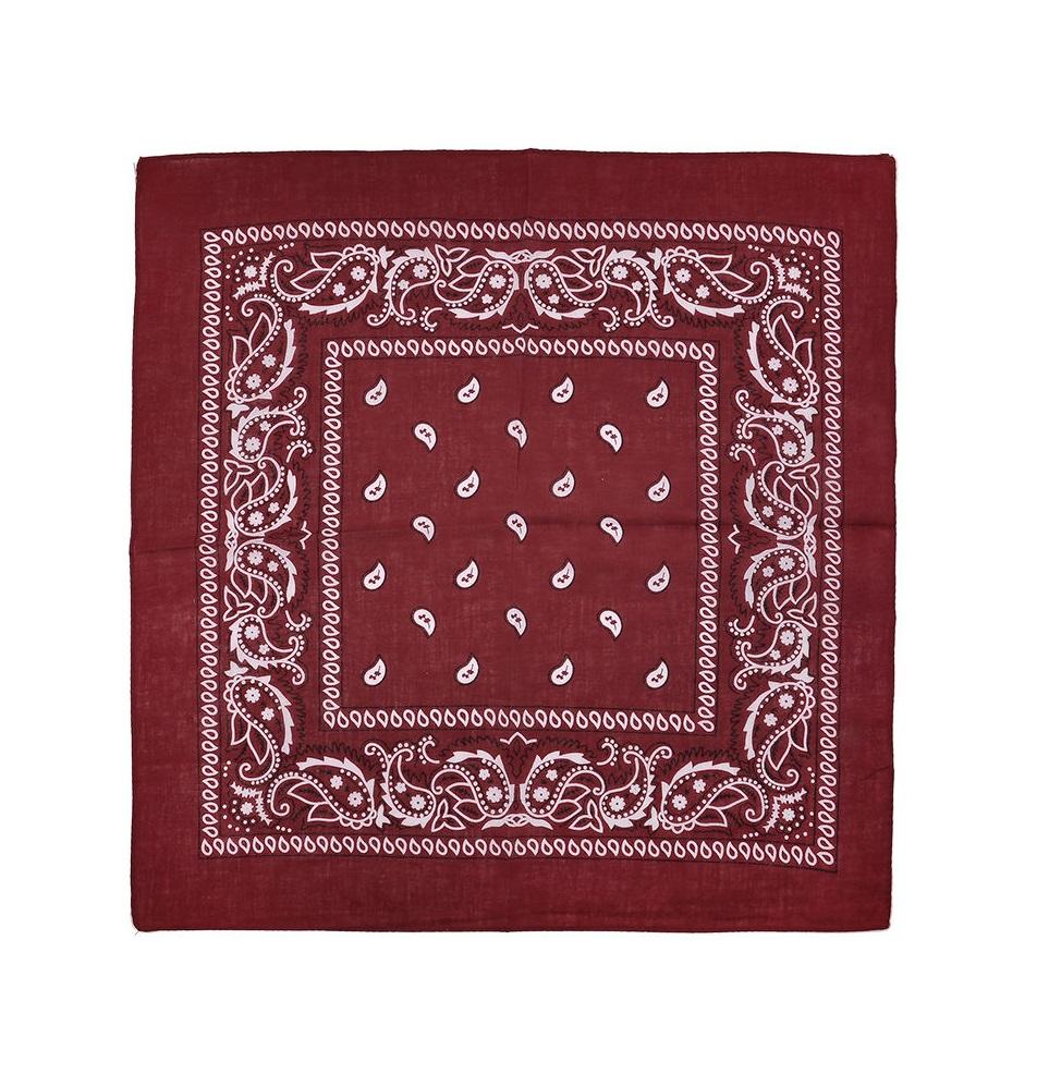Вишнево червена кърпа шал
