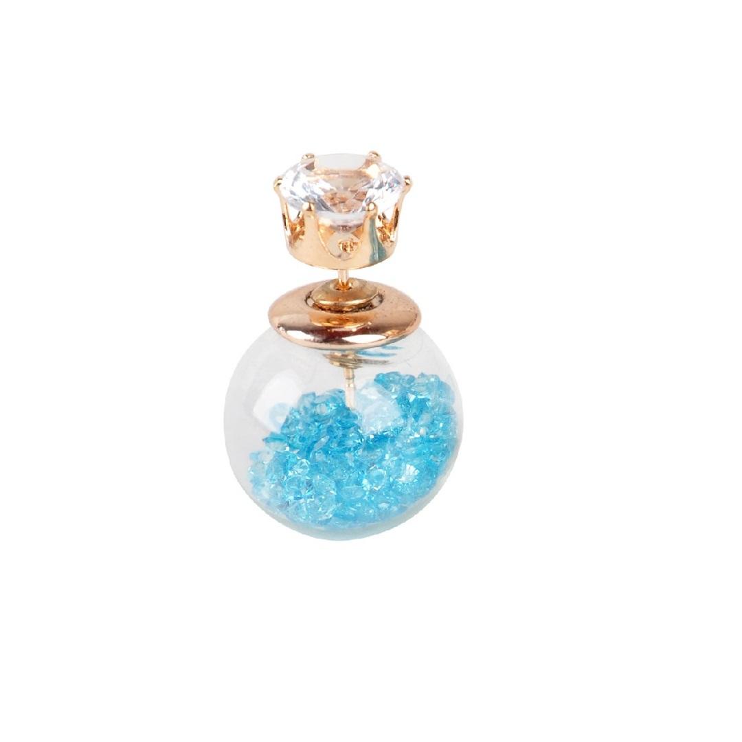 Елегантна дамска обеца с кристали