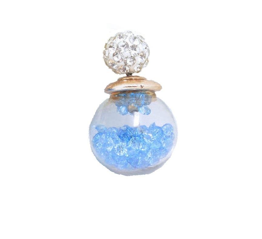 Кристалчета в стъклена топка обеца