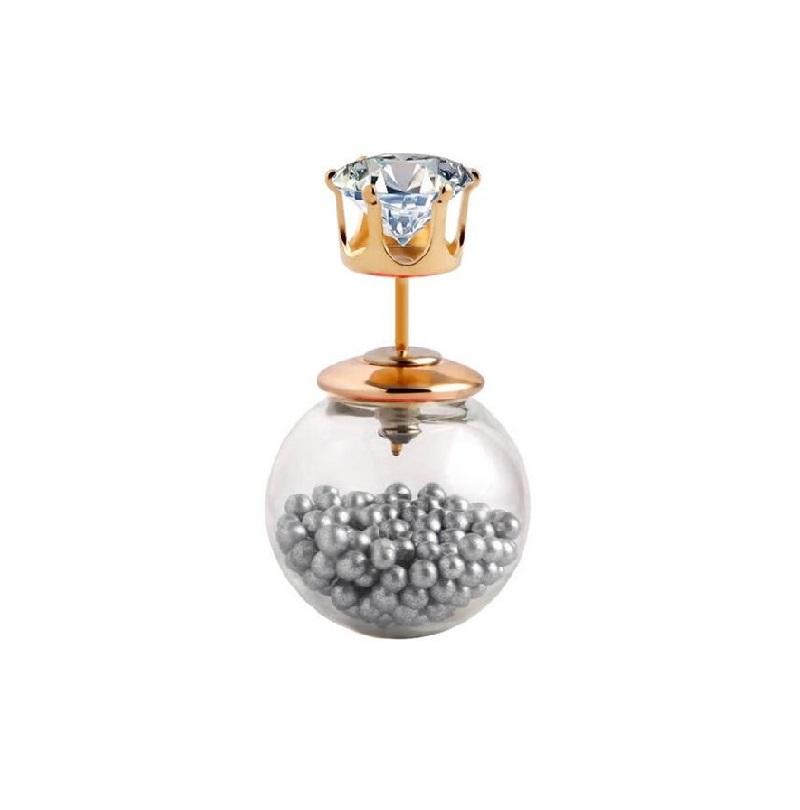 Маракас обеца със сребърни бейби перли