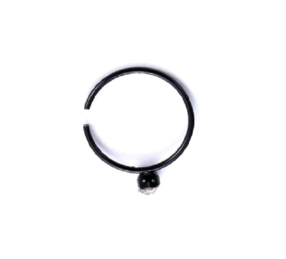 Черна халка с бял кристал