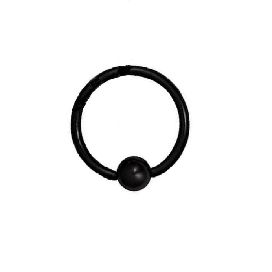 Халка черна за пиърсинг