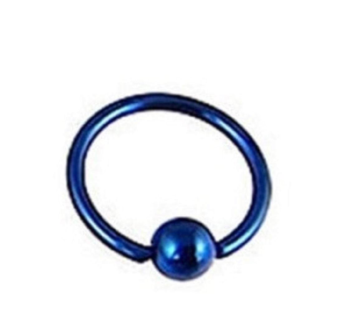 Халка за пиърсинг синя - 12 милиметра