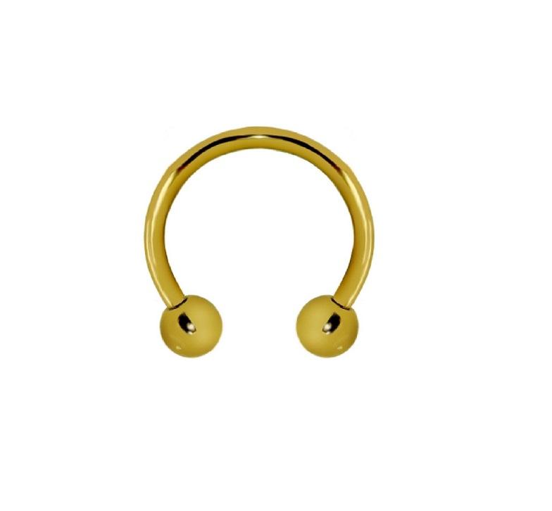 Имитационна златна обеца