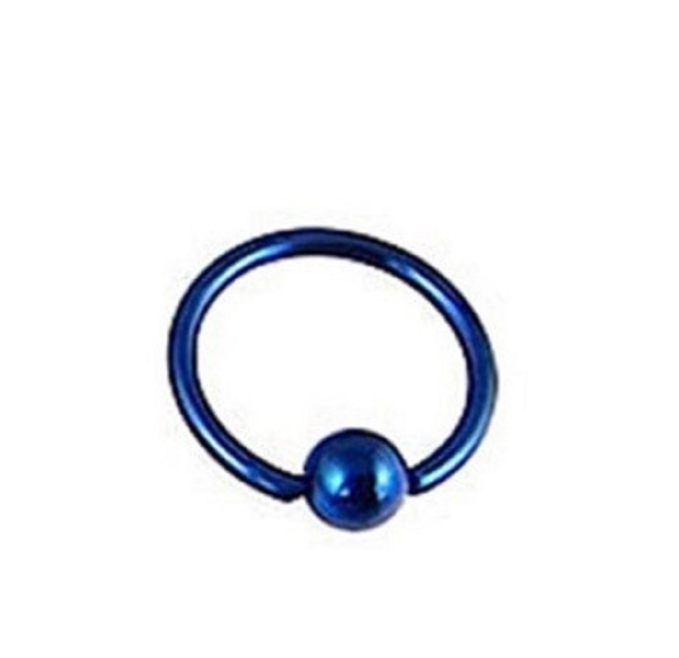 Малка синя обеца - халка с топче