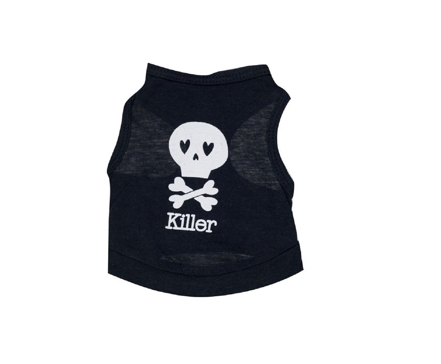 Тениска за куче Killer с череп  - М