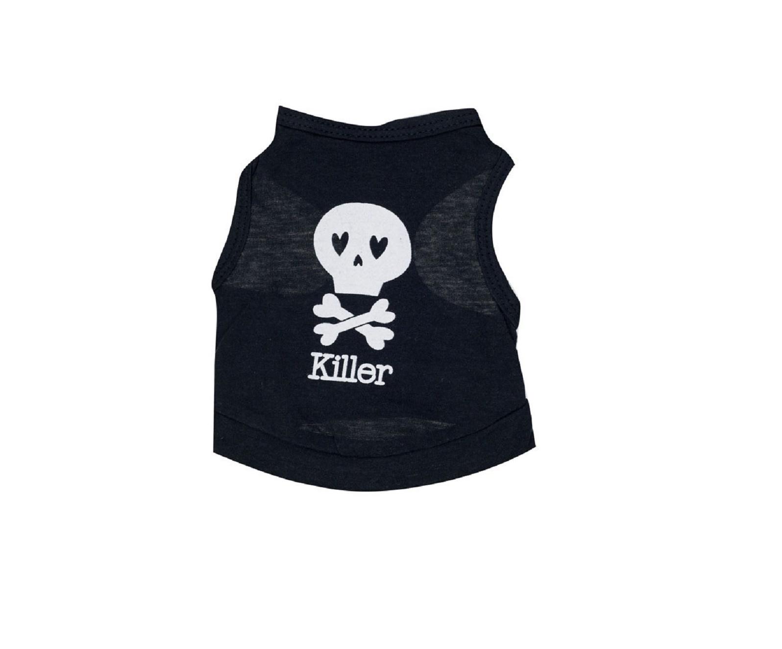Тениска за куче Killer с череп  - S